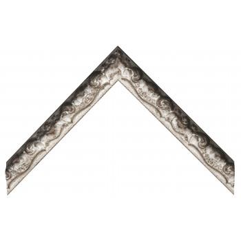 Деревянный багет Черный с серебром 369.44.075