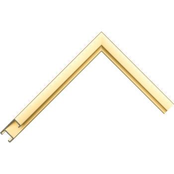 Алюминиевый багет золото матовый 38-14