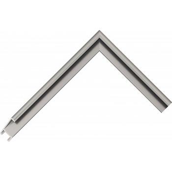 Алюминиевый багет серое олово матовый 41-17