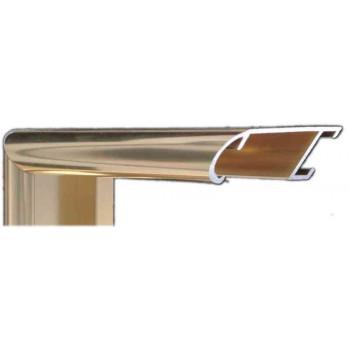 Алюминиевый багет светлое золото блестящий 43-28