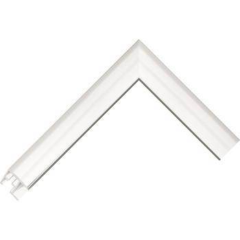 Алюминиевый багет серебро блестящий 68-11