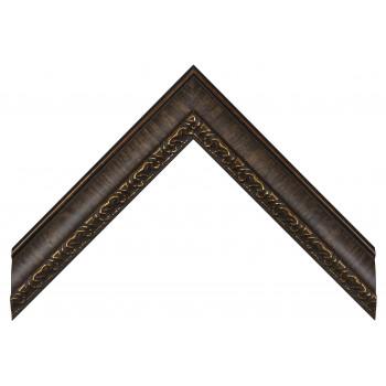 Пластиковый багет Темно-коричневый 807-1