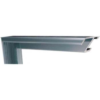 Алюминиевый багет голубое олово блестящий 84-18