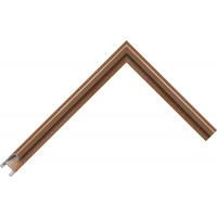 Алюминиевый багет коричневый 85-35