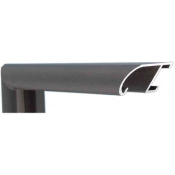 Алюминиевый багет черный офортный матовый 89-300