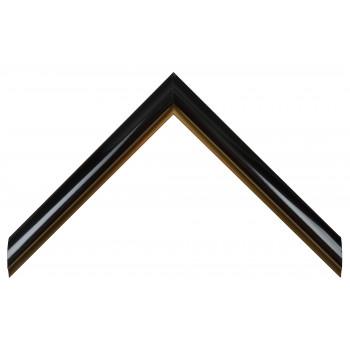 Пластиковый багет Черный с золотом AV1-BLACK