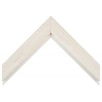 Деревянный багет Белый с бежевым протиром 017.63.053