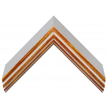Деревянный багет Белый с красно-оранжевым 159.63.043