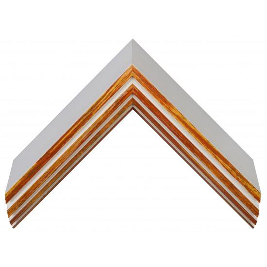 Деревянный багет Белый с красно-оранжевым 159.63.043 в интернет-магазине ROSESTAR фото