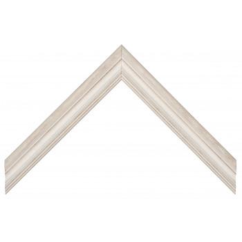 Деревянный багет Белый 240.23.286