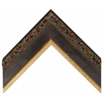 Деревянный багет Черный с золотом 355.83.073