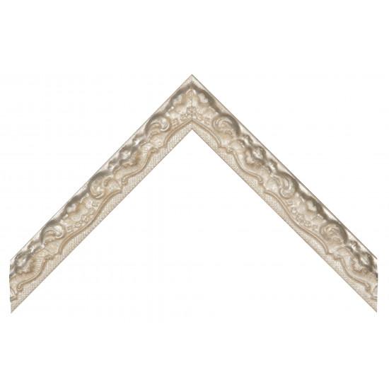 Деревянный багет Бежевый с серебром 369.44.192 в интернет-магазине ROSESTAR фото