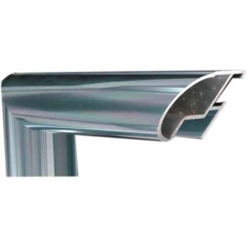 Алюминиевый багет голубое олово блестящий 48-18