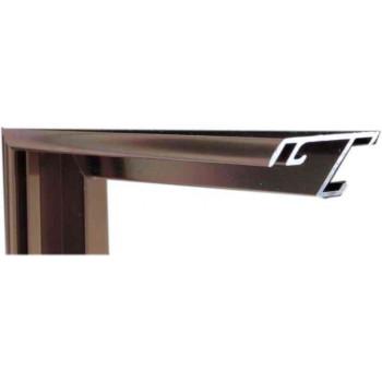 Алюминиевый багет бронза 52-22