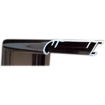 Алюминиевый багет темная бронза блестящий 58-22