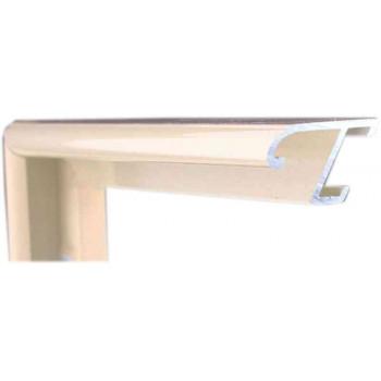 Алюминиевый багет ваниль блестящий 85-114
