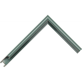Алюминиевый багет пастельный зеленый блестящий 86-110