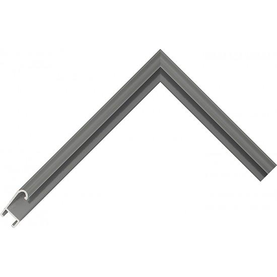 Алюминиевый багет серый 86-123 в интернет-магазине ROSESTAR фото