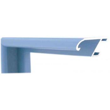 Алюминиевый багет голубой 86-44