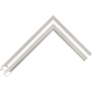 Алюминиевый багет серебро блестящий 87-11