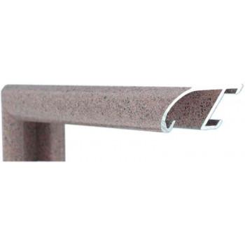 Алюминиевый багет розовый гранит 89-209