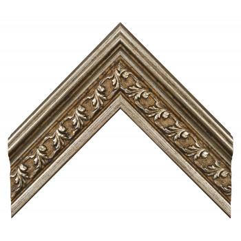 Пластиковый багет Серебро 902-393