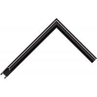 Алюминиевый багет черный глянцевый 915-26