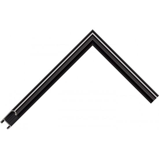 Алюминиевый багет черный глянцевый 915-26 в интернет-магазине ROSESTAR фото