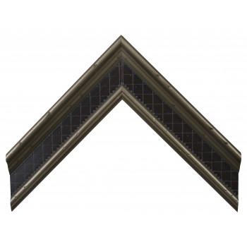 Деревянный багет Серебро А-В360702