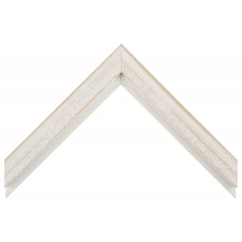 Деревянный багет Белый с бежевым протиром 017.53.053