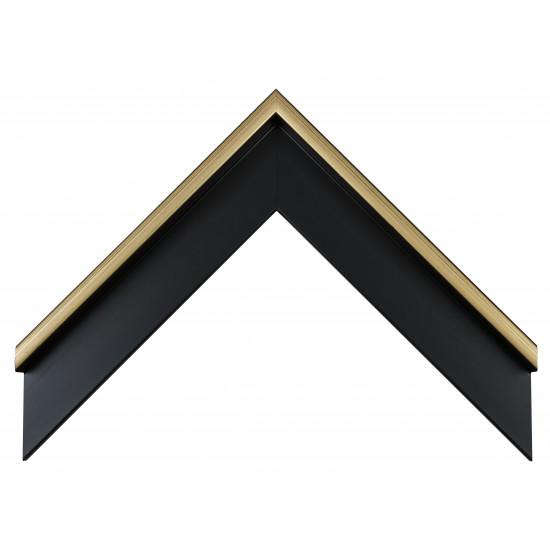 Деревянный багет Черный с золотом 101.41.073 в интернет-магазине ROSESTAR фото