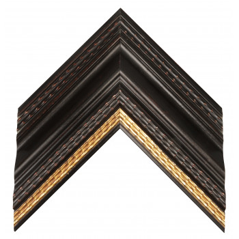 Деревянный багет Черный с золотом 32103086