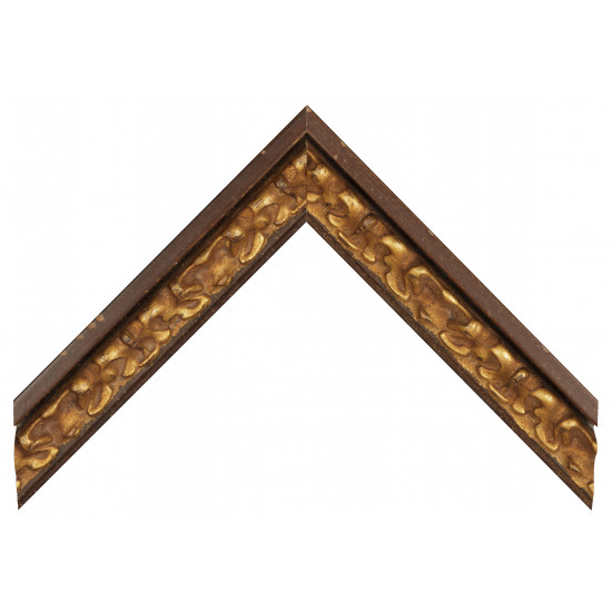 Деревянный багет Коричневый с золотом 365.53.053 в интернет-магазине ROSESTAR фото