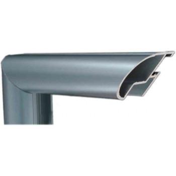 Алюминиевый багет голубое олово матовый 48-19