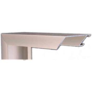 Алюминиевый багет серое олово матовый 49-23