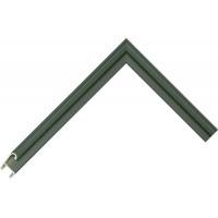 Алюминиевый багет темно-зеленый блестящий 85-115