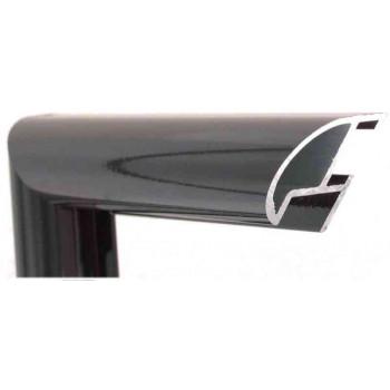 Алюминиевый багет черный 87-100