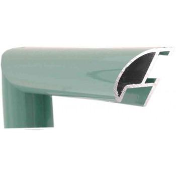 Алюминиевый багет пастельный зеленый блестящий 87-110