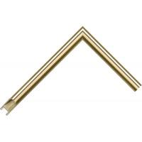 Алюминиевый багет светлое золото блестящий 915-28