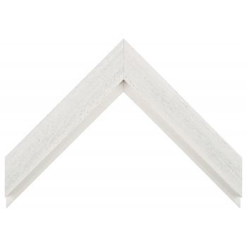 Деревянный багет Белый с серым протиром 017.63.069
