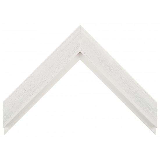 Деревянный багет Белый с серым протиром 017.63.069 в интернет-магазине ROSESTAR фото