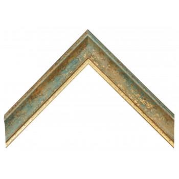 Деревянный багет Бирюзовый 089.64.016