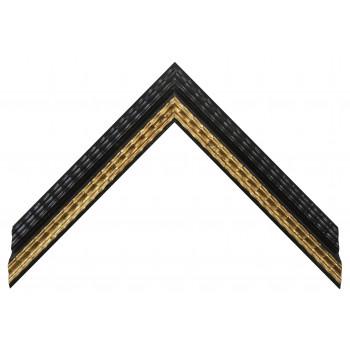 Деревянный багет Черный с золотом 23043086