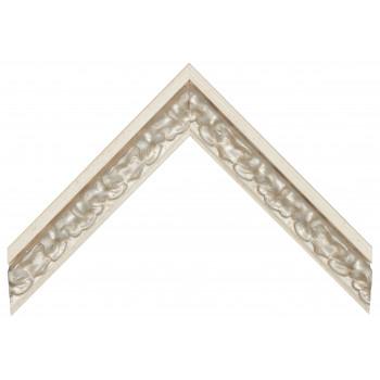 Деревянный багет Бежевый с серебром 365.53.192