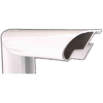 Алюминиевый багет белый глянцевый 48-102