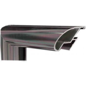 Алюминиевый багет оружейный металл 48-20