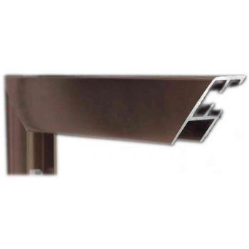 Алюминиевый багет темная бронза блестящий 68-22