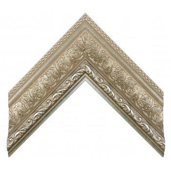Пластиковый багет Серебро 849-373