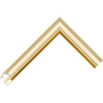 Алюминиевый багет светлое золото блестящий 87-28