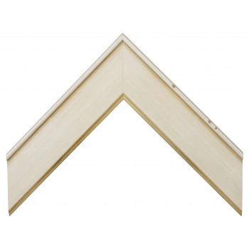 Деревянный багет Белый 15453051